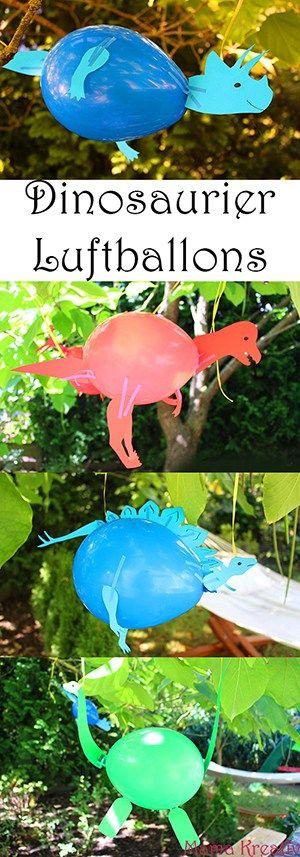 Spielen mit Kindern. Dinosaurier Luftballons zum Dino-Geburtstag