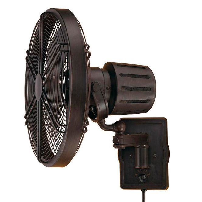 Retro Style Wall Mount Fan Offers A Unique Vintage Look With Modern Day Versatility Suitable For Indoor Or Outdoor Wall Mounted Fan Wall Fans Outdoor Wall Fan