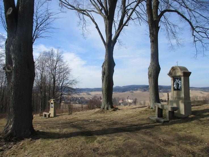 Křížová cesta - Anenský vrch u Lobendavy - Ústecký kraj