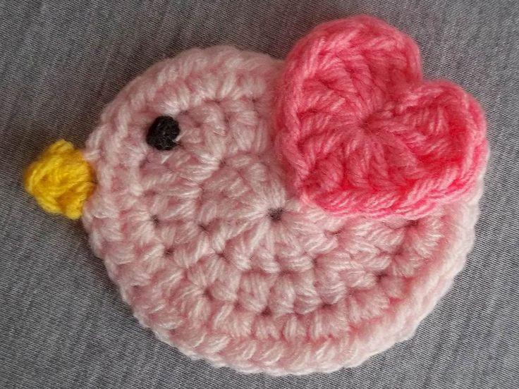 pajarito crochet móvil guirnalda aplique decoración