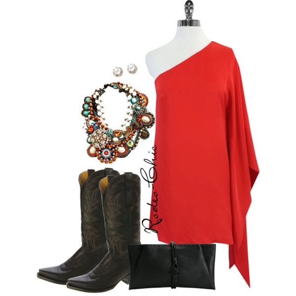 Sweethearts of the Rodeo by rodeo-chic on Polyvore; Lanvin clutch; cowboy boots, Old Gringo @oldgringoboots; earrings @kennethjayl; western, country