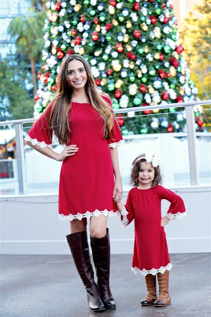Mommy and me holiday dresses #beinspiredboutique