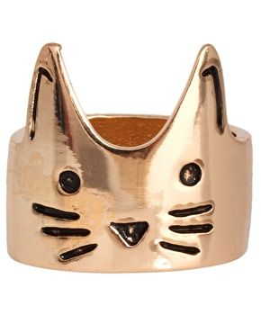 Cat Face RingCat Fashion, Face Rings, Kitty Cat, Cat Rings, Asoscom, Accessories, Cat Faces, Asos Cat, Face Jewelry