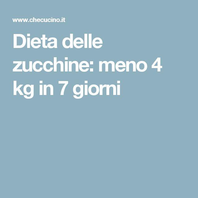 Dieta delle zucchine: meno 4 kg in 7 giorni