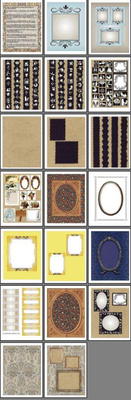 heritage scrapbook printables
