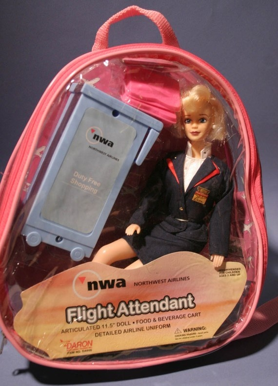 Original Northwest Airlines Collectible Doll With Accessories Set at Dollpassion_Paris