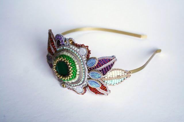 Indian summer. soutache headband. Hair accessories.