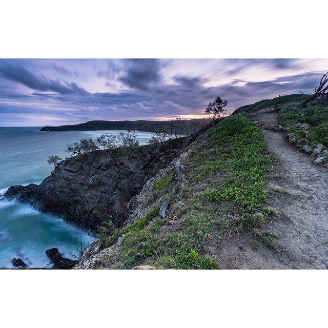 Hell's gates, Noosa.  #landscape #sunset #sunshinecoast #nature #dusk #longexposure #queensland #australia #cliffs #ocean #coastline #clouds #sky #beach #hiking #adventure #exploration #vsco #holiday #lookout #instagood #photoftheday #goldenhour #seascape #autumn #noosa #visitnoosa