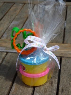 Party Favors (use homemade rainbow playdough)