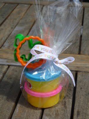 Party Favors (use homemade rainbow playdough)
