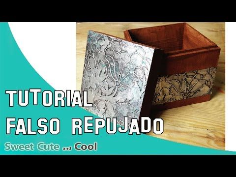 Tutorial falso repujado con papel de plata | Manualidades