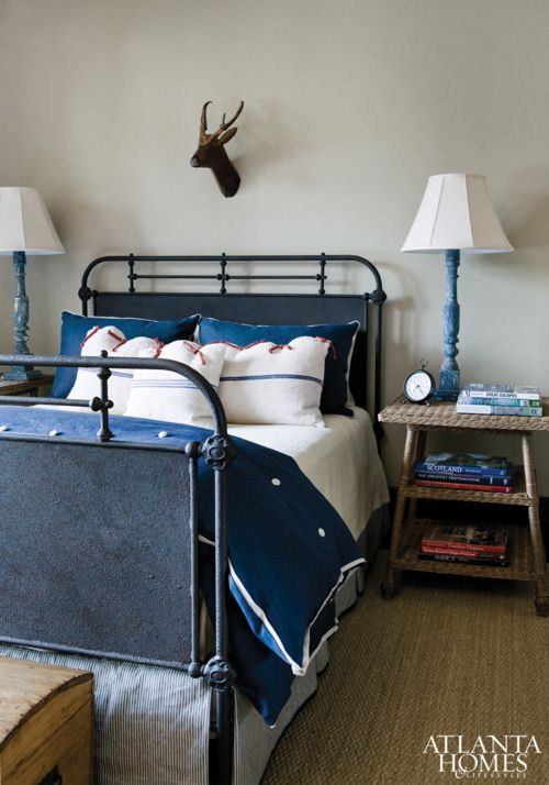 Boy 39 S Room With A Hospital Type Bed And A Nod To The Country With The Deer Wff Room Ideas