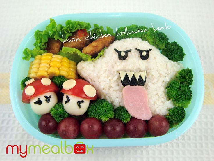 Great face idea for bento. Wish I could do the Mario mushrooms, too, but the kiddo wouldn't eat them.