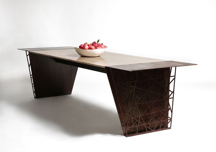 #steel and #marble #table #furniture #design #harrierdesign #travertino #vintage