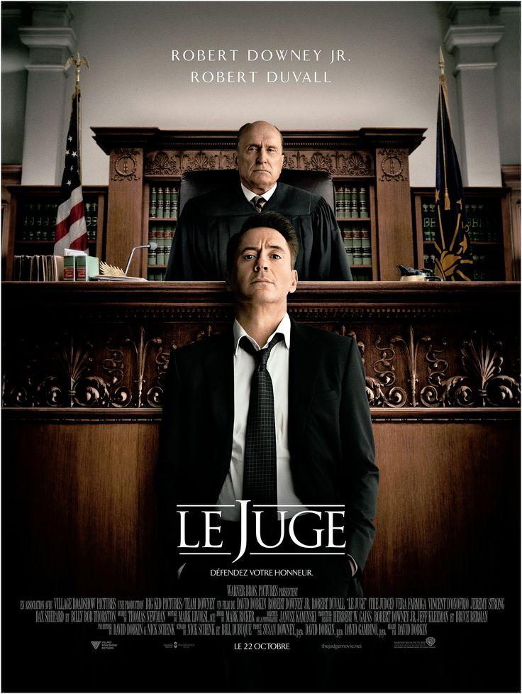 Le Juge est un film de David Dobkin avec Robert Downey Jr., Robert Duvall. Synopsis : Fils de magistrat, Hank Palmer, grand avocat, revient dans la petite ville de son enfa