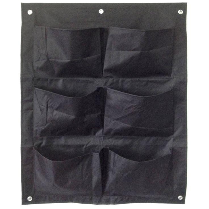 Aus robustem Nylon • Stabile Metallösen zur sicheren Aufhängung ✓ Garden Pleasure Pflanztasche mit 6 Taschen Schwarz ➜ Pflanzentöpfe außen bei OBI