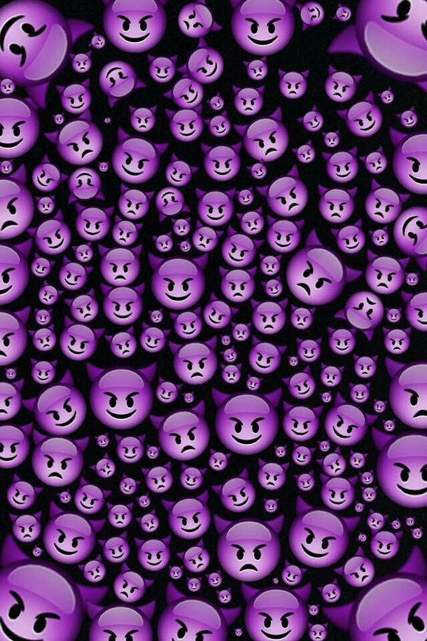 purple devil emoji wallpaper - Google Search