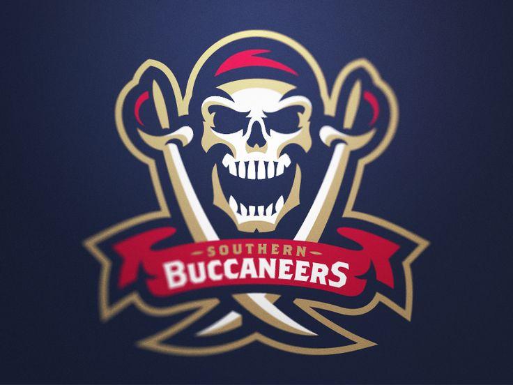 Southern Buccaneers Primary Logo by Fraser Davidson #logo #pirates   American Sport Theme Logo
