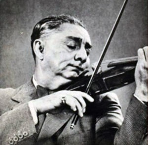"Grigoraș Dinicu (1889-1949), Romanian composer and violinist, most famous for his often-played virtuoso violin showpiece ""Hora staccato"" (1906)"