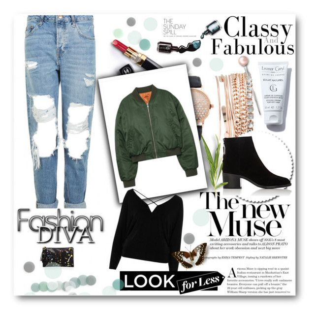 """""""Untitled #214"""" by amina-haskic ❤ liked on Polyvore featuring Jessica Carlyle, Topshop, River Island, rag & bone, Loeffler Randall, Chanel and Dolce&Gabbana"""