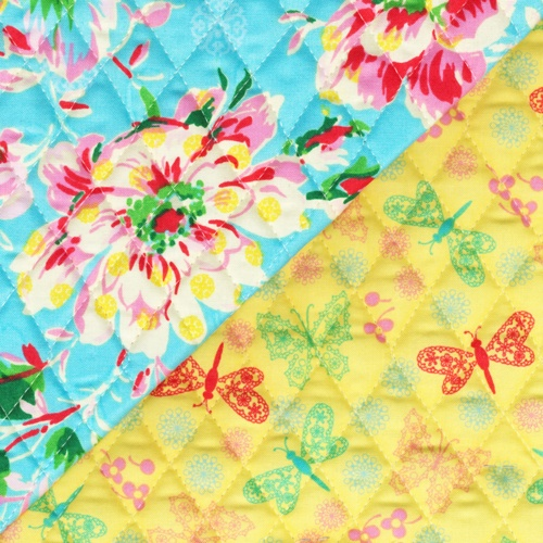 Quilted Peggy Sue fabric designed by Ro Gregg exclusively for Paintbrush Studio.