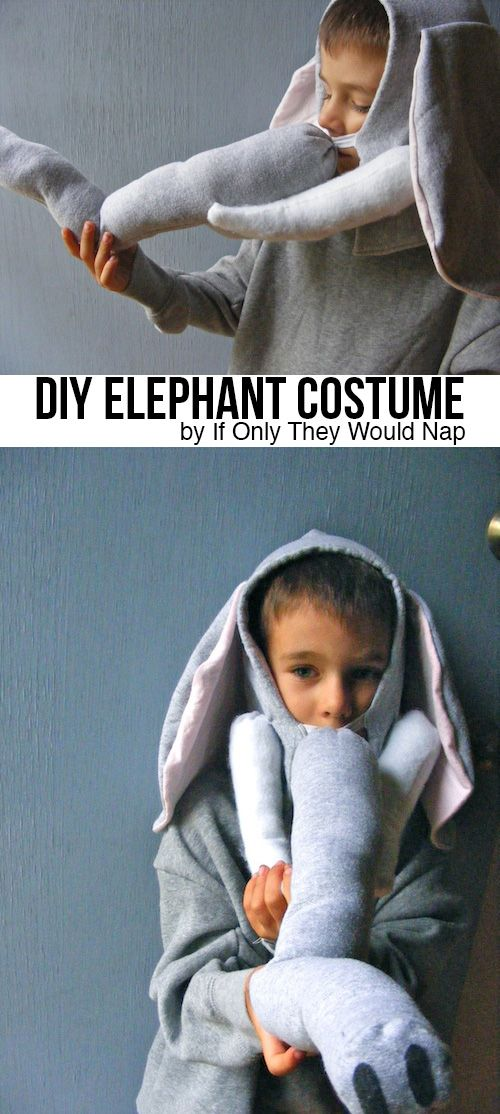 Elephant costume tutorial by If Only They Would Nap