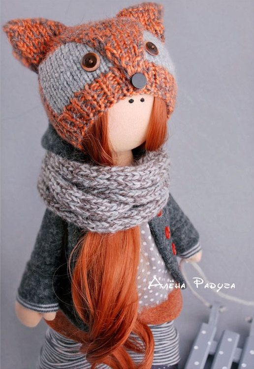 Winter doll toy Tilda doll Decor doll Art by AnnKirillartPlace