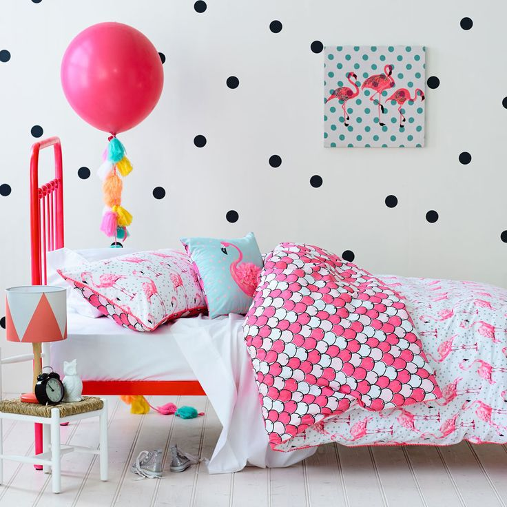 Adairs Kids Fifi Flamingo - Bedroom Quilt Covers & Coverlets - Adairs Kids online