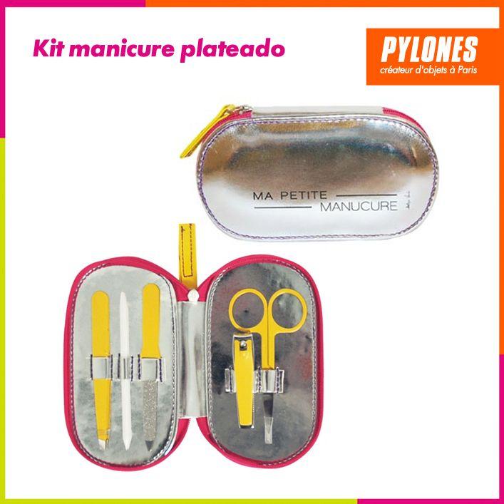 Kit manicura plateado #Regalos #Novedades @pylonesco