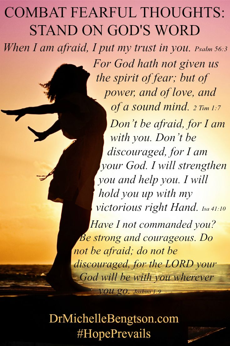 If the enemy is taunting you with fear, overcome by standing on God's word to refute the lies. Start with these scriptures. Bible Verse. Scripture. Christian Inspirational Quotes.