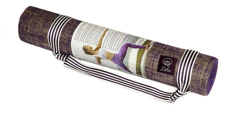 Amazon.com : Zafu Yoga Mat - For All Types of Yoga - Bikram - Restorative - Hatha - Professional Quality - Super Grip - Anti Slip - Lightweight But Dense - Anti Bacterial Jute - Non Toxic - Eco Friendly (Purple) : Sports & Outdoors