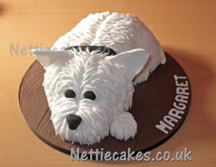 Westie doggie cake