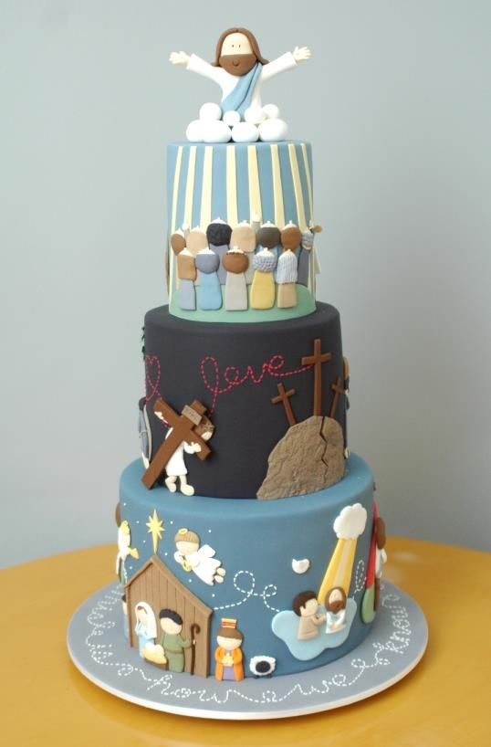 Incredible- the story of Jesus' on a cake by Joanne Ong from The Cupcake Gallery.  Sydney, Australia  www.cupcakegallery.com.au