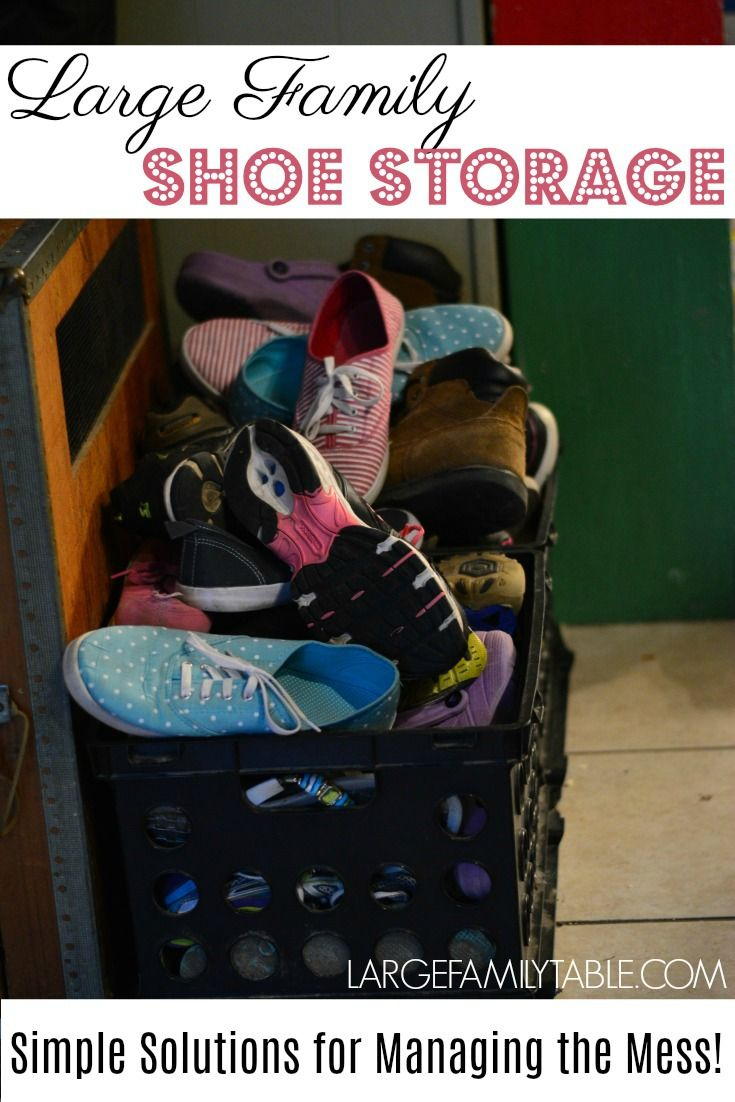 Shoes Can Be One Of The Hardest Things To Keep Organized And Get Everyone In House Put Away I Am Always Looking For New Shoe Storage Ideas