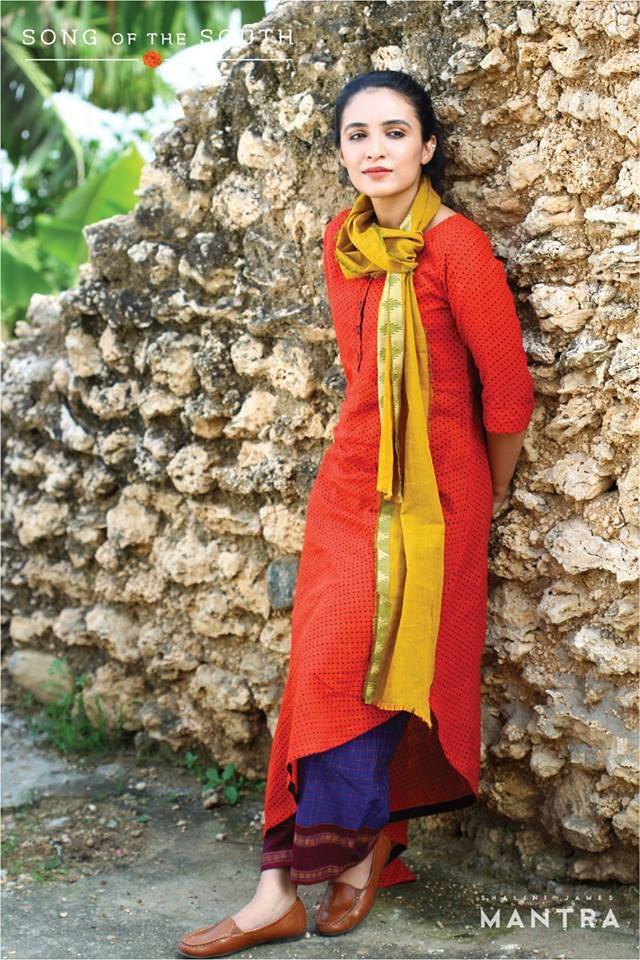 Song of the South - A collection inspired by the colours and textiles of Tamil Nadu. Currently available at our outlet in Lulu mall, Kochi, and coming soon to our online store! ‪#‎shalinijamesmantra‬ ‪#‎songofthesouth‬