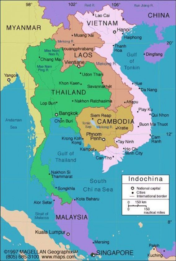 Indochina Travel Map Vietnam Cambodia Laos Myanmar S Best Places