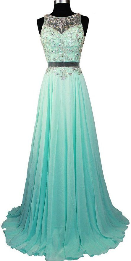 Meier Women's Sleeveless Rhinestone Sheer Back Pageant Prom Formal Dress Light Green XS