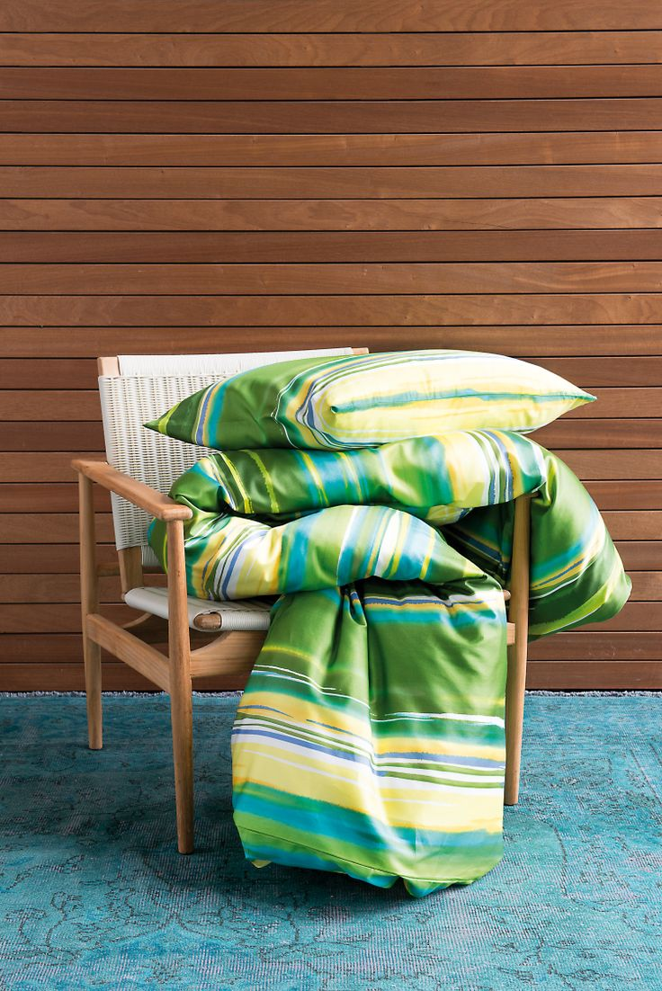 Lounge Chair Flores and Bed Linen Rialda, Tropical Retro,  Indoor Ideas, Furnishing and Decoration Ideas, Decoration
