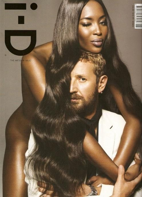 i-D Magazine August 2008 Cover Photographer: Inez van Lamsweerde and Vinoodh Matadin Models: Stefano Pilati & Naomi Campbell