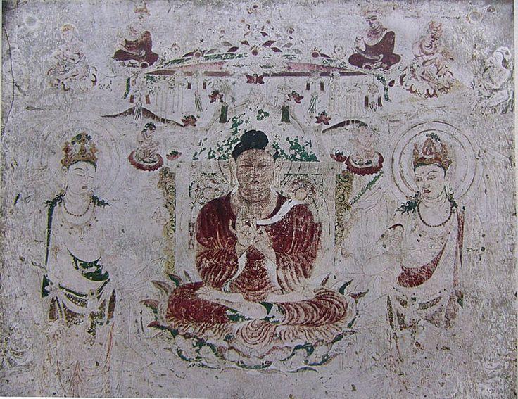 Amidhaba paradise Horyuji Mural - 法隆寺金堂壁画 - Wikipedia