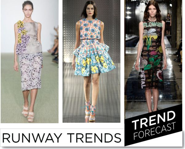 Floral SS2014 Fashion Trend http://www.sandrascloset.com/the-most-important-ss-2014-runway-trends/