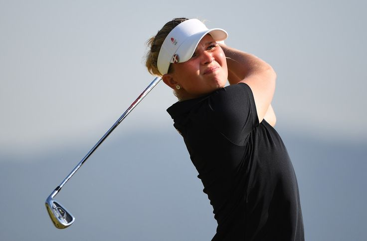 Nanna Koerstz Madsen of Denmark plays her shot from the fourth tee during the First Round of Women's Golf at Olympic Golf Course on Day 12 of the Rio 2016 Olympic Games on August 17, 2016 in Rio de Janeiro, Brazil.