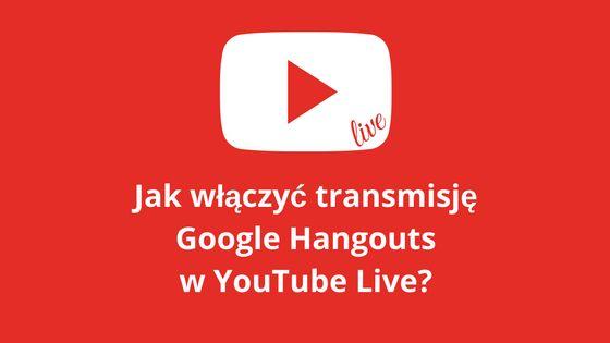 Zobacz w jaki sposób włączyć transmisję online (np. webinar) Google Hangouts w serwisie YouTube Live. Jak umieścić wideo i czat na swojej stronie internetowej.