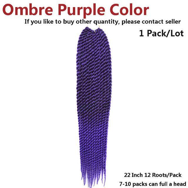 Senegalese Twist Crochet Braids Extensions 22 Inch