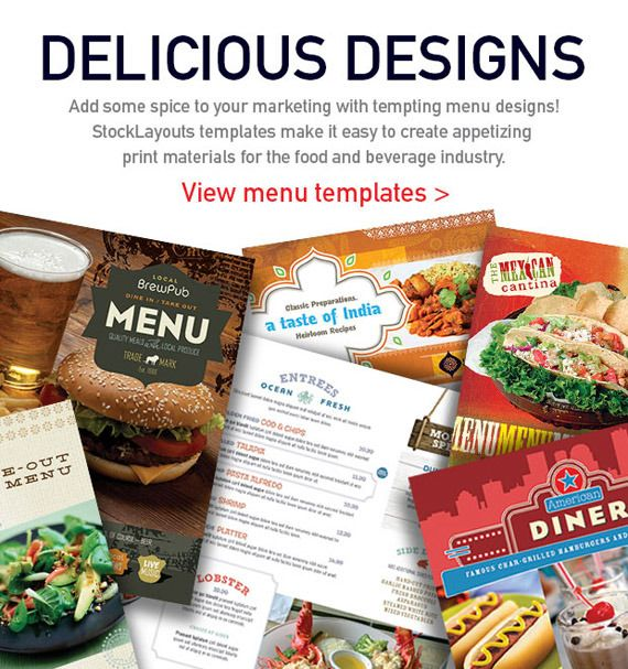 Make Restaurant Menus with Templates from @StockLayouts