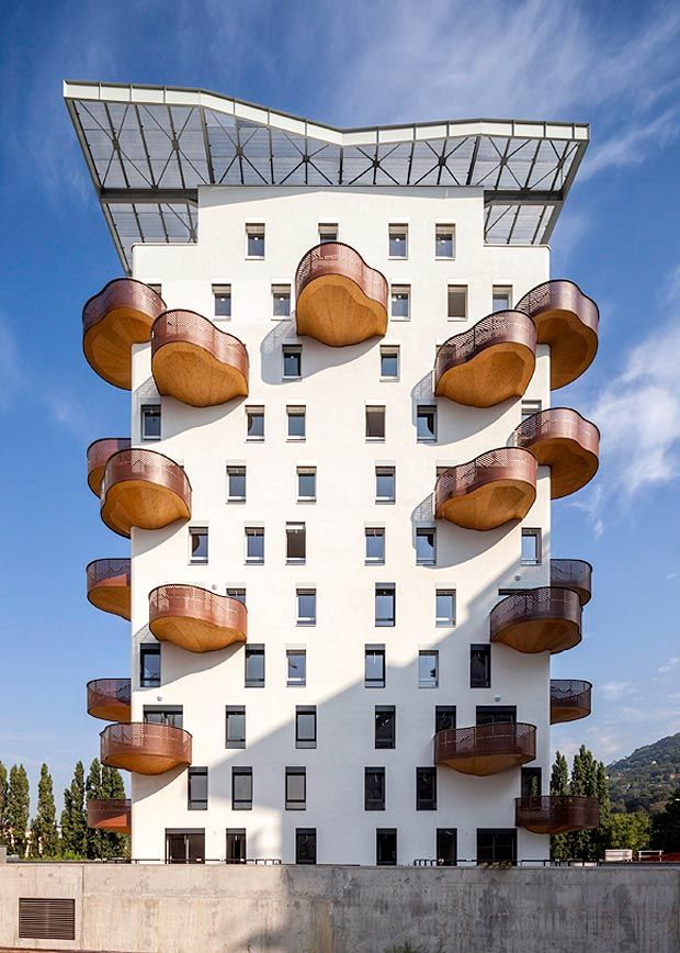 wooden balconies, Grenoble, France