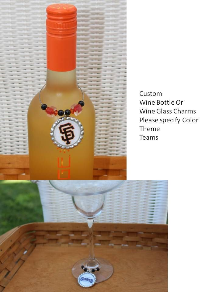 Custom Wine Bottle Charms & Wine Glass Charms for All Occasions, Any Theme, Any team, Any Event, Any Holiday