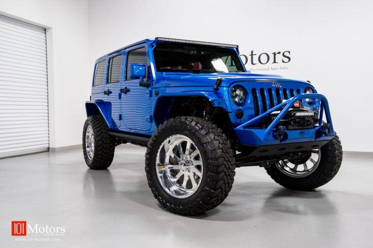 2015 Jeep Wrangler Unlimited Hardtop | Hydro Blue Pearl / Custom Mojave Leather | 101 Motors