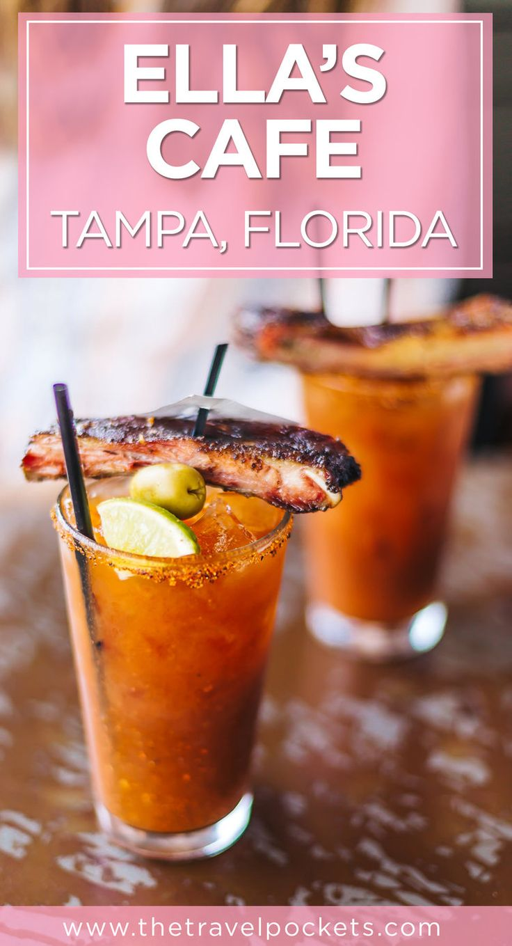 Best Bloody Mary at Ella's Cafe in Tampa, Florida USA