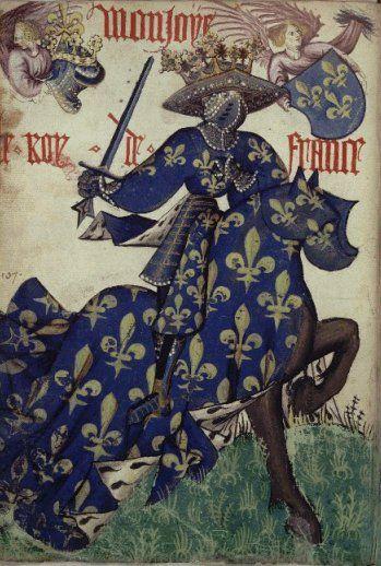 Armorial équestre de la Toison d'or, Flandre, ca. 1433-1435 - le Roi de France